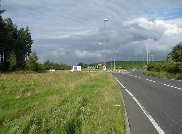 The new Flouch roundabout, A628 - A616, Langsett - geograph.org.uk - 936961