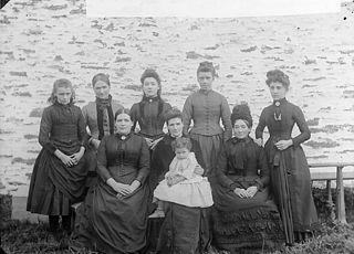 The teachers, Llanbryn-mair school (1898)