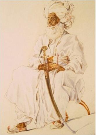 Mazari tribe - A portrait of Sardar Mir Bahram Khan Mazari