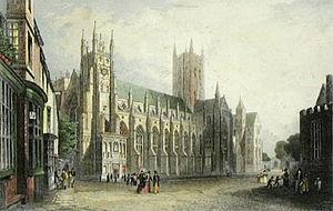 Thomas Mann Baynes - Canterbury Cathedral by Thomas Mann Baynes