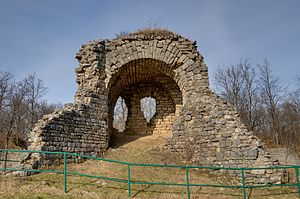 Ruins at the Salbert hill (near Belfort, France).