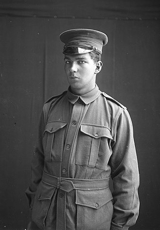 Thomas Playford IV - Playford in 1915, as a lieutenant in the 27th Battalion of the Australian Imperial Force.