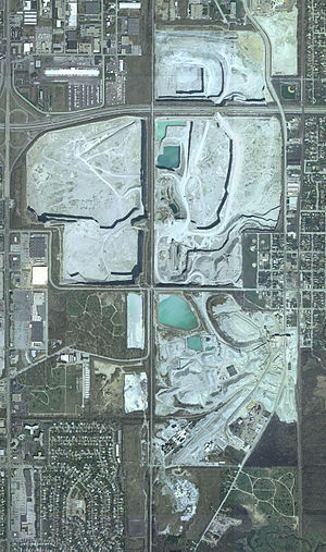 Thornton Quarry - Overhead view of the quarry