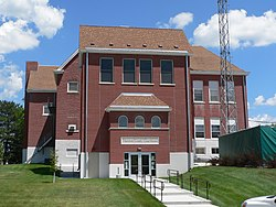 Thurston County, Nebraska courthouse from W.JPG