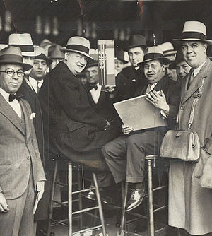 History of the New York Giants (1925–78) - Tim Mara (seated on the left) pictured at the track. Before Mara founded the Giants, he worked as a bookmaker, a profession which was legal in 1925.