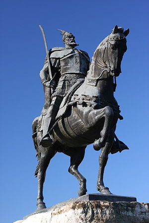 Albanian nationalism - Skanderbeg Monument in Tirana.
