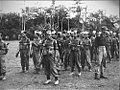 Tjikampek. Elf officieren van de 2de Inf. Brig. werden te velde beedigd. Ook de , Bestanddeelnr 5641.jpg