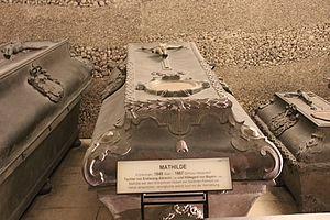 Archduchess Mathilda of Austria - Tomb of Mathilde of Austria-Teschen at the Imperial Crypt in Vienna, Austria