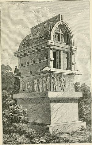 Tomb of Payava - Tomb of Payava at Xanthus in 1905