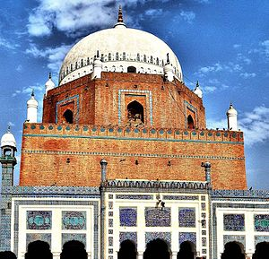 Tomb of Shaikh Bahauddin Zikria. Located in Multan, Pakistan.jpg