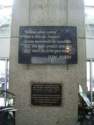 Rio de Janeiro–Galeão International Airport - Tribute to Tom Jobim at Rio de Janeiro International Airport