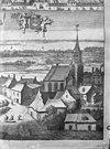 toren pl.m. 1675. uit- smallegange, chronyk van zeeland - gapinge - 20074956 - rce