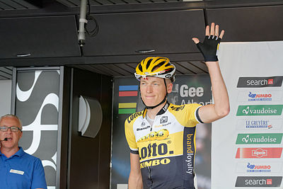 Robert Gesink for LottoNL at the 2015 Tour de Suisse Tour de Suisse 2015 Stage 2 Risch-Rotkreuz (18795000900).jpg