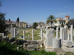 Roman Agora - Remains of the Roman Agora built in Athens during the Roman period