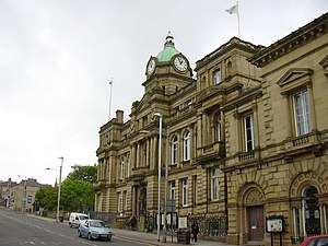 Burnley - Image: Town Hall, Manchester Road geograph.org.uk 1318508