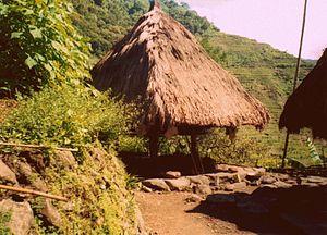 Ifugao - A traditional house in Ifugao