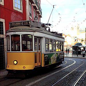 Alfama - Tram 28 in Alfama