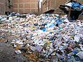 Trash on a Street in Moqattam Village.jpg