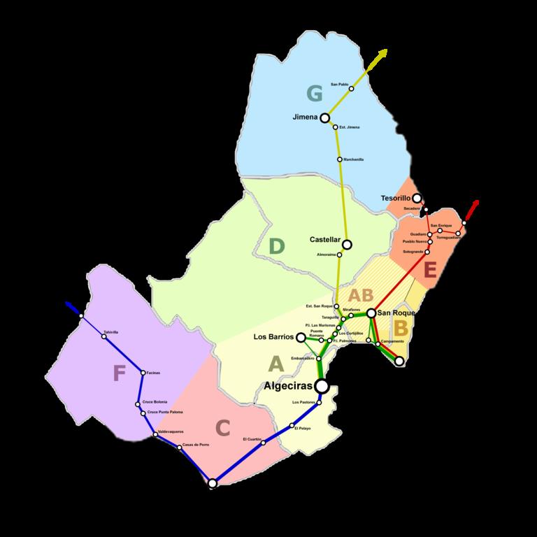 Campo De Gibraltar Mapa.File Trayectos Ctmcg Png Wikimedia Commons