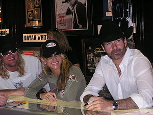 Trick Pony - Ira Dean, Heidi Newfield and Keith Burns signing autographs at the CMA Music Festival in 2006