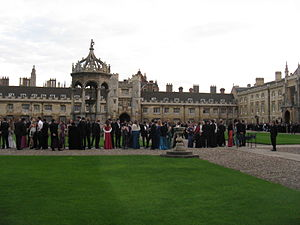 May Ball - Guests queue to enter First and Third Trinity Boat Club May Ball