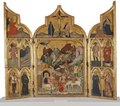 Triptych with the Adoration of the Magi and Saints (Jacobello del Fiore) - Nationalmuseum - 19159.tif
