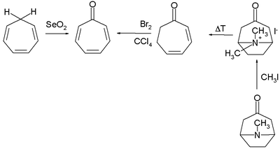 Tropone synthesis