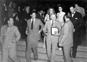 Emma Smith Kennedy - President Truman departing the RLDS Auditorium on June 27, 1945.