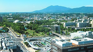 Tsukuba, Ibaraki - View of Mount Tsukuba and Tsukuba Center