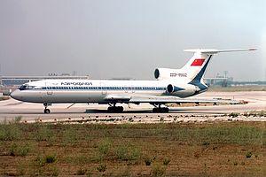 Aeroflot Flight 3603 - An Aeroflot Tupolev Tu-154 similar to the aircraft crash