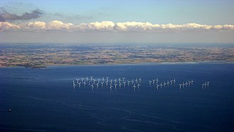 Lillgrund Wind Farm - Aerial view of Lillgrund