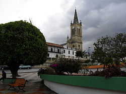 Catholic church and central square