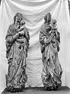 twee houten beelden, de heilige maagd met het christuskind - soest - 20202251 - rce