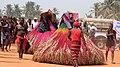 Two Zangbetos in Vodoun Festival Grand Popo Benin Jan 2018.jpg