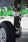 U.S. Marine Corps F-35B Lightning II(169164) of VMFA-121 left main landing gear shock strut left rear view at MCAS Iwakuni May 5, 2018 02.jpg