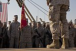 U.S. Marine Corps Gen. John M. Paxton, right, the assistant commandant of the Marine Corps, speaks to Marines with Combat Logistics Regiment 2 at Camp Leatherneck, Helmand province, Afghanistan, Nov. 28, 2013 131128-M-RF397-471.jpg