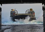 U.S. Navy Landing Craft, Air Cushion 02 enters the well deck of the amphibious dock landing ship USS Carter Hall (LSD 50) in the Atlantic Ocean March 13, 2013 130313-N-XZ031-184.jpg