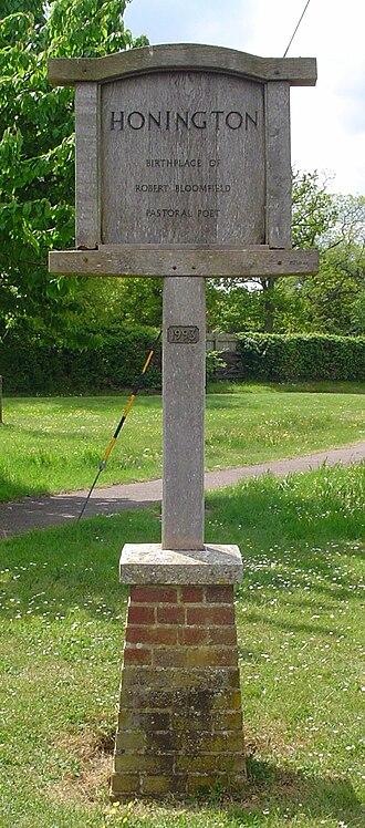 Honington, Suffolk - Signpost in Honington