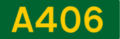 A406 road shield