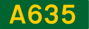 A635 road shield