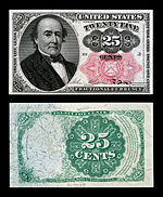 Twenty five-cent fifth-issue fractional note