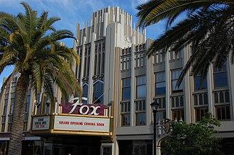 Fox Theatre (Redwood City, California) - Image: USA Redwood City New Sequoia Theater Building 2