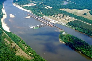 Coffeville Lock and Dam on the Tombigbee River...
