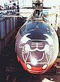 USS Chicago (SSN-721) in drydock with Chigago Bulls emblem 1993.jpg