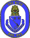 USS Kidd (DDG-993) crest