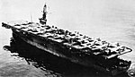 USS Tripoli (CVU-64) transporting F-84s in the 1950s.jpg