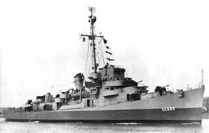 USS Underhill (DE-682) underway, circa in late 1943