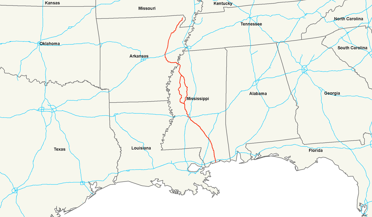 US Route Wikipedia - Us 90 road mississippi map
