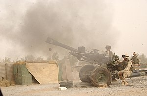 M119 howitzer - M119 Howitzer as part of a training exercise conducted near Kandahar Airfield, Afghanistan, on Sept. 17, 2004
