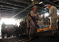 US Navy 081125-N-3392P-089 Marines embark aboard the amphibious dock landing ship USS Carter Hall (LSD 50).jpg